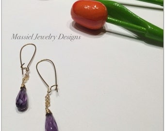 Long faceted earring