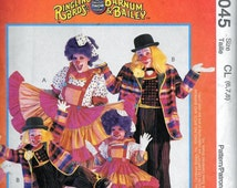 McCall's 9045 Ringling Bros & Barnum Bailey CLOWN Costumes Sewing Pattern Childrens Size 6, 7 and 8 UNCUT