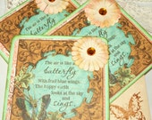 Dream Note Cards - Vintage Inspired Note Cards - Butterfly Note Cards - Vintage Note Cards - Wedding Cards - Wedding Gift Cards