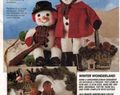 McCalls Pattern 6157 Chrismas Snowman and Gingerbread soft toys designed by Faye Wine