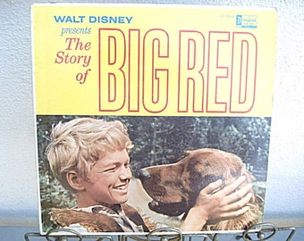 The Story Of Big Red,Disney Record,Adventure Film, Disney Film,Dog Movie,Dog Movie, Walt Disney Music,Disney Collectible,Children's Record