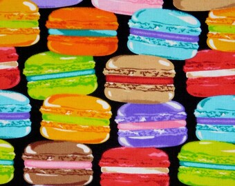 Macaroons fabric, french macaroons, 100% cotton fabric for Quilting and general sewing projects.
