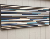 Wall Art - Wood Wall Art - Reclaimed Wood Art Sculpture - Modern Wall Art/Abstract Painting on Wood