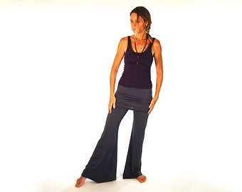 Skirted Bell Bottom Pants - Flared Yoga Pants - Organic Clothing - Eco Friendly