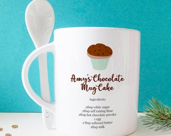 Chocolate Cake Mug with Spoon