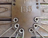Vintage Industrial Laundry Pin Hanger, Keyes-Davis Company Numbered Safety Pins  - 10% off with code!