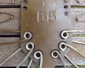 Vintage Industrial Laundry Pin Hanger, Keyes-Davis Company Numbered Safety Pins