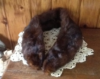 """Large Sable Mink Stole Collar Clothing Wrap Fabulous Antique Fur 38"""" Long"""