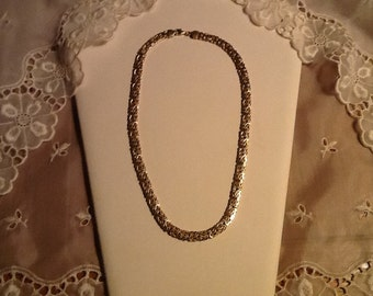 14k Gold Byzantine Necklace Gorgeous Vintage Solid Gold Fine Jewelry Gift