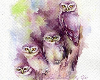 PRINT – My brother Watercolor painting 7.5 x 11""