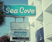 Sea Cove Motel Sign, Mid Century Motel Sign, Retro Motel Bedroom Art