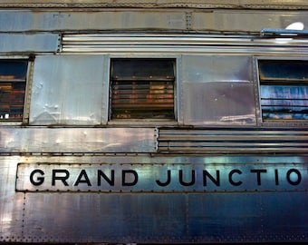 Train Decor, Train wall decor, Grand Junction Railroad, Industrial Wall Art, Train Art