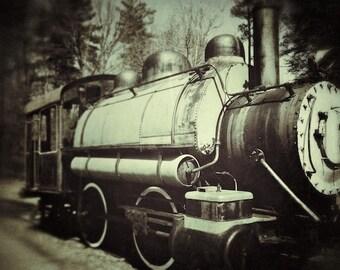 Industrial Wall Decor, Vintage Train Photography, Industrial Decor Digital Photography