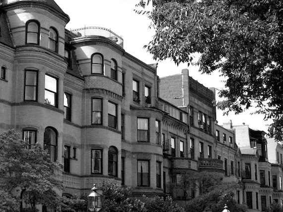 Boston By Foot, Black and White Photo, Wall Art Boston, Along the City Streets Series