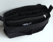 Large Bag organizer for Tote Bag - Purse organizer insert with two divider compartment- zipper and laptop case.