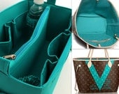 Louis Vuitton Neverfull GM Diaper purse insert - Extra large Bag organizer in Turquoise match LV Monogram
