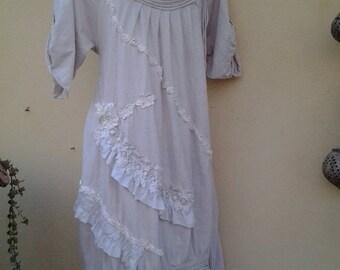 "20%OFF wedding bridal vintage bohemian gypsy OAK lagenlook...,smaller to 40"" bust..."