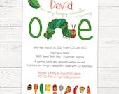 A Very Hungry Caterpillar Invitation - Kids Birthday Invitation