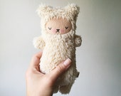 Kawaii Teddy Bear Stuffed Animal Sleepy Plushie Sugarloaf Sherpa