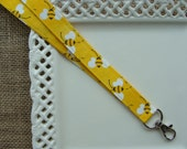 Fabric Lanyard - Bright Bumble Bee