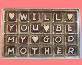 Will You Be My Godmother Cubic Chocolate Letters Funny Creative Way to Ask Luxury Gift for Women by What Candy Says LLC