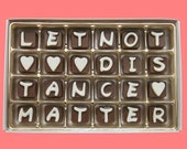 Distant Love Fiance Boyfriend Girlfriend Gift Him Her Anniversary Valentines Gift I Miss You Let Not Distance Matter Cubic Chocolate Letter