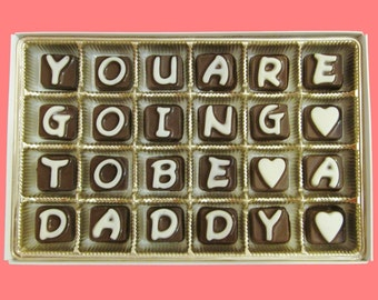 You Are Going To Be A Daddy Cubic Chocolate Cool Funny Idea Pregnancy Reveal Gift for Husband Made to Order Canada International Shipping