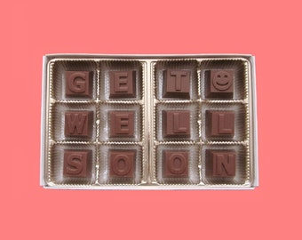 Get Well Soon Gift Him Get Well Gift Her Sympathy Gift for Best friend Coworker Gift Speedy Recovery Gift Funny Idea Milk Chocolate Message