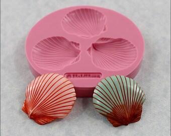 Seashell Mold Sea Shell Mould for fondant, resin, polymer clay, chocolate (299)