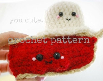 CROCHET PATTERN- Amigurumi Cherry Pie à la mode