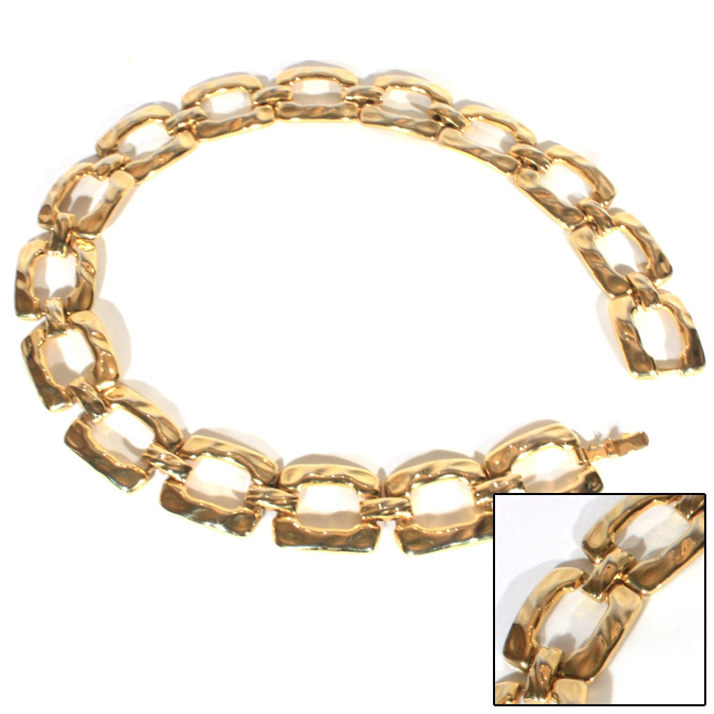 chunky gold chain link bold necklace statement by