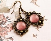 Coral - Victorian Earrings