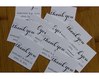 Custom Made Thank You Wedding Tags, Invitation Tags, Bridal Shower Tags