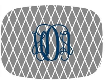 Personalized/ Monogram Platter- Link Melamine Platter - New Couple Gift - Hostess Gift