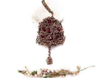 Celtic Tree Necklace, Tribal Apple Tree Necklace, Tree of Life Necklace, Bohemian Celtic Tree Necklace