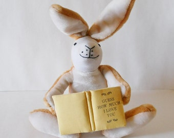 Plush Bunny Rabbit & Book, Guess How Much I Love You, Talking, Vintage 1994