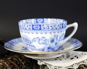 Vintage Tea Cup, Blue and White China, Seltmann Weiden, Euro Teacup, Bavaria Germany 13226