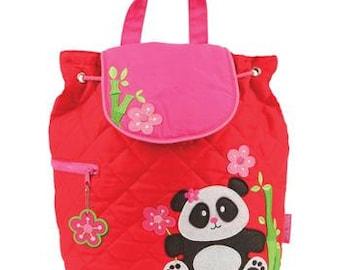 Stephen Joseph panda bear backpack personalized monogrammed