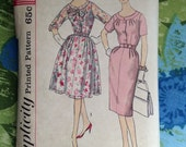 Vintage Simplicity 3403 Day or Formal Dress Sewing Pattern 37 Inch Bust Half Size