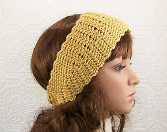 Crochet headband, headwrap, ear warmer - honey gold - handmade Fall Fashion Winter Fashion Accessories Sandy Coastal Designs ready to ship