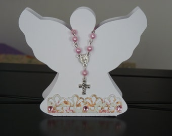 Rosary and angel box - set of 10