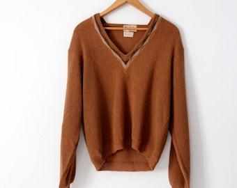 vintage 50s alpaca sweater, Sportswear by David Church for Marshall Field & Co