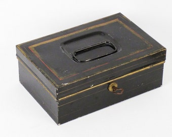 Turn of the Century Metal Document Box with Documents and Key, Coca Cola Opener - Bullet