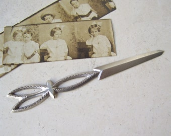Antique Sterling Silver Letter Opener Victorian Era Home Office Wood Desk Post Office ca. 1880