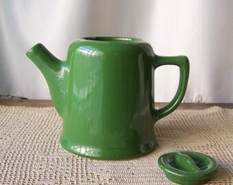 Vintage Teapot Tea Server Chefsware Coorsite Vintage 1940s Heavy Porcelain Tea Server Forset Green