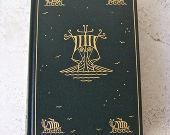 Vintage Travels of Marco Polo Hardcover Book 1948 24K Gold Cover