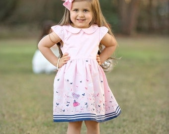 Spring & Summer Girls Boutique Dresses, Birthday Dress, Party Dress, Summer Dress, Spring Dress, Back to School Dress, Hearts(BODR273)