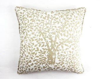 Quadrille China Seas Arbre De Matisse Pillows (Shown in Ecru on Natural-Both Sides)