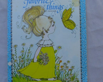Vintage My Favorite Things Notepad Decorated Sheets by Montag