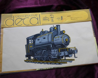 Vintage Train Steam Engine Decal 1973 Railroad / Steampunk